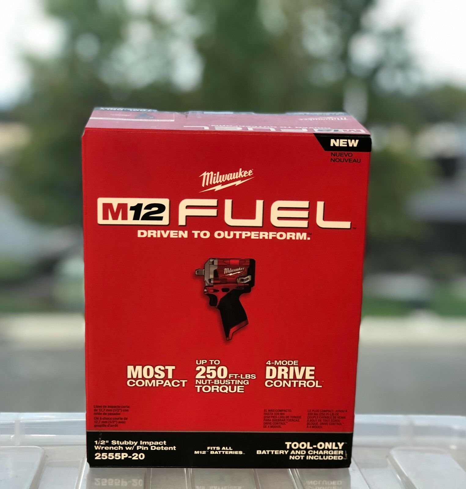 Milwaukee 2555P-20 M12 FUEL Stubby 1/2 in. Impact Wrench (Bare Tool) New
