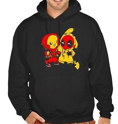 Deadpool Pikachu PIKAPOOL Besties Hoodie / Hooded Top .. Up to 5XLarge