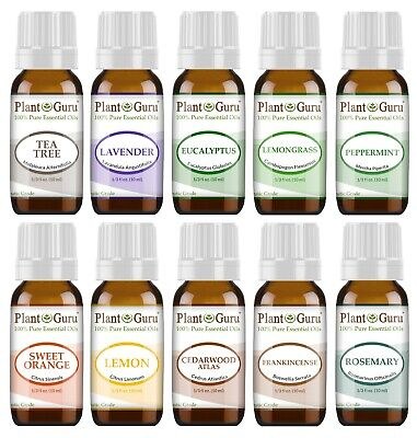 10 Ml Sampler - Essential Oil Set 10 - 10 ml. Sampler Kit 100% Pure Therapeutic Grade Oils Lot