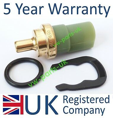 Audi Water Coolant Temperature Gauge Sensor 059919501A Temp Sender Clip & O ring