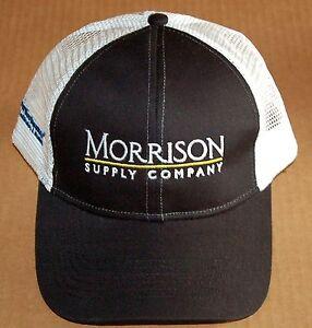 Morrison supply embroidered logo adjustable ventilated for Morrison supply