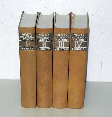 Vier, Meyers (Meyers Universallexikon in vier Bänden, komplett, sehr guter Zustand )