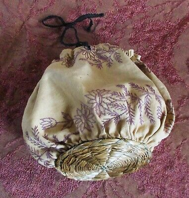 Alaskan Embellished Smoked grass Belize Hand Woven Trinket Box 5 X 3 X 2 in