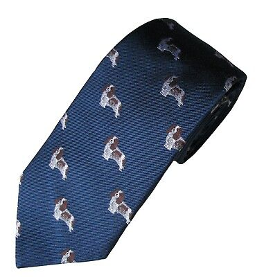 Cavalier King Charles Dog Breed Necktie Woven Silk Men's Clothing Accessory Tie
