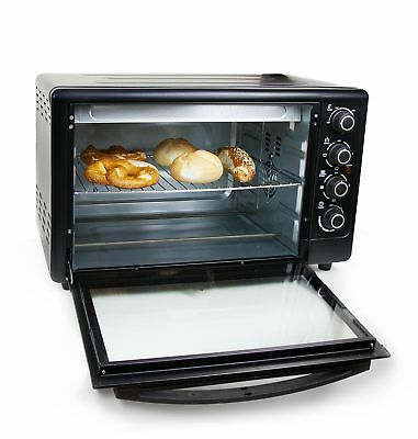 50 L Grafner Mini Backofen Drehspieß 2000 Watt Pizzaofen Toastofen Heissluftofen
