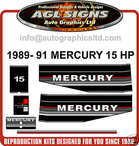 1989-1990-1991-MERCURY-15-HP-OUTBOARD-MOTOR-DECAL-SET