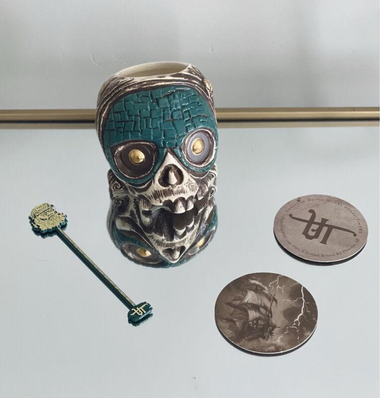 "Undertow Tiki Diablo ""El Calerte"" Jade Mask Mug - Rare 5 Year Anniversary Mug"