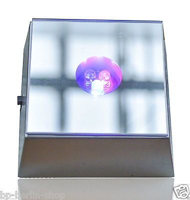 2 x 3LEDs Leuchte Untersetzer 3D Kristaldekoration Sockel -mit Spiel
