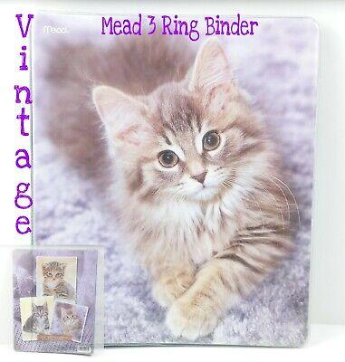 Vintage Kittens 3 Ring Binder Mead Cute Kitties Folder Cat Vtg
