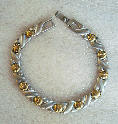 Silver Gold Tone Stainless Steel Chain Link Cuff Bangle Bracelet Wristband 7.5