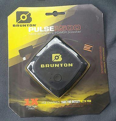 Brunton Pulse 1500 mAh Black Power Booster New Portable Battery Charger