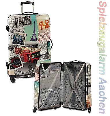 Cabine Trolley MEMORIES Paris Hartschalenkoffer L 78 lt 70 cm Reisekoffer ABS PC