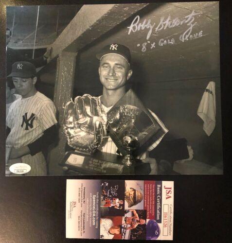 Bobby Shantz signed 8x10 photo Yankees Gold Glove inscribed Autographed JSA COA