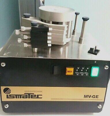 Cole Parmer 7611-00 Ismatec Mv-ge Peristaltic Pump 5 Channel Head 6 Rollers