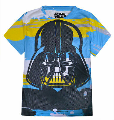 Boys Star Wars T-shirt Kids Short Sleeve Darth Vader Top New Age 8 10 12 14 Year
