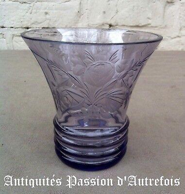 B20171069 - Superbe petit vase en demi-cristal -1930-40  - Très bon état