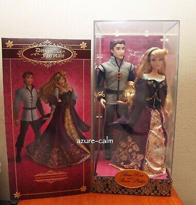 NIB Disney Fairytale Designer Aurora BRIAR ROSE & PRINCE PHILIP Doll Set LE