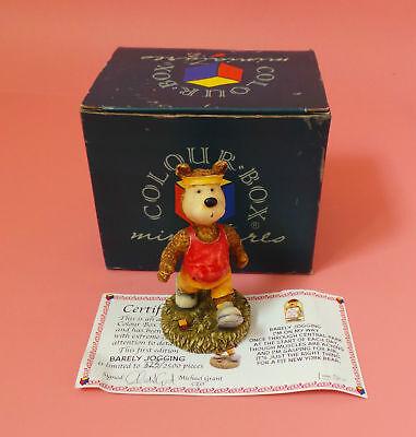 Colourbox Colour Box Barley Jogging Limited Edition Bear Boxed