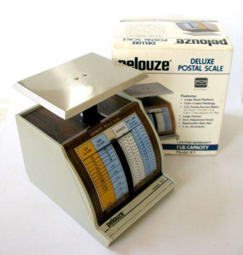 VINTAGE 1991 PELOUZE DELUXE POSTAL SCALE MODEL X1 - I LB CAPACITY - MASDE IN USA