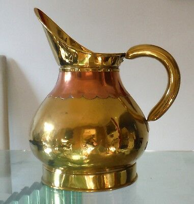V LARGE ANTIQUE COPPER/BRASS PITCHER-LATE VICTORIAN (11 PINTS)  %.