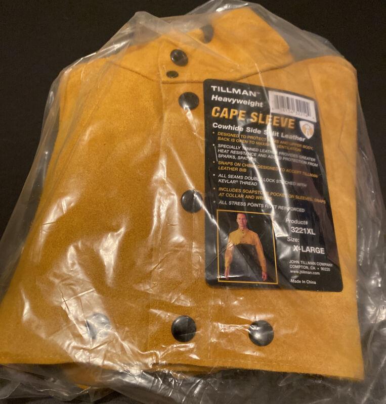 Tillman Heavyweight Cape Sleeve Cowhide Side Split Leather 3221XL X-Large