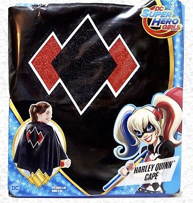 Cape Costume Harley Quinn DC Super Hero Girls Cape Halloween Age 3+ New in Box