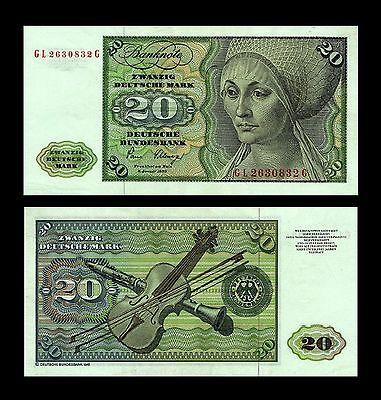 * * * 20 Deutsche Mark Geldschein 1980 Alte deutsche Währung * * *
