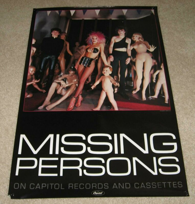 Missing Persons - vintage, RARE, 1980s in-store music promo Memorabilia poster