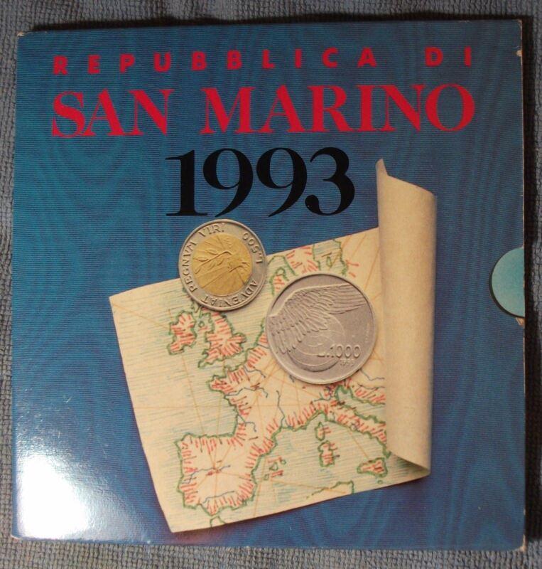 1993 San Marino Mint Set, 10 Coin Set