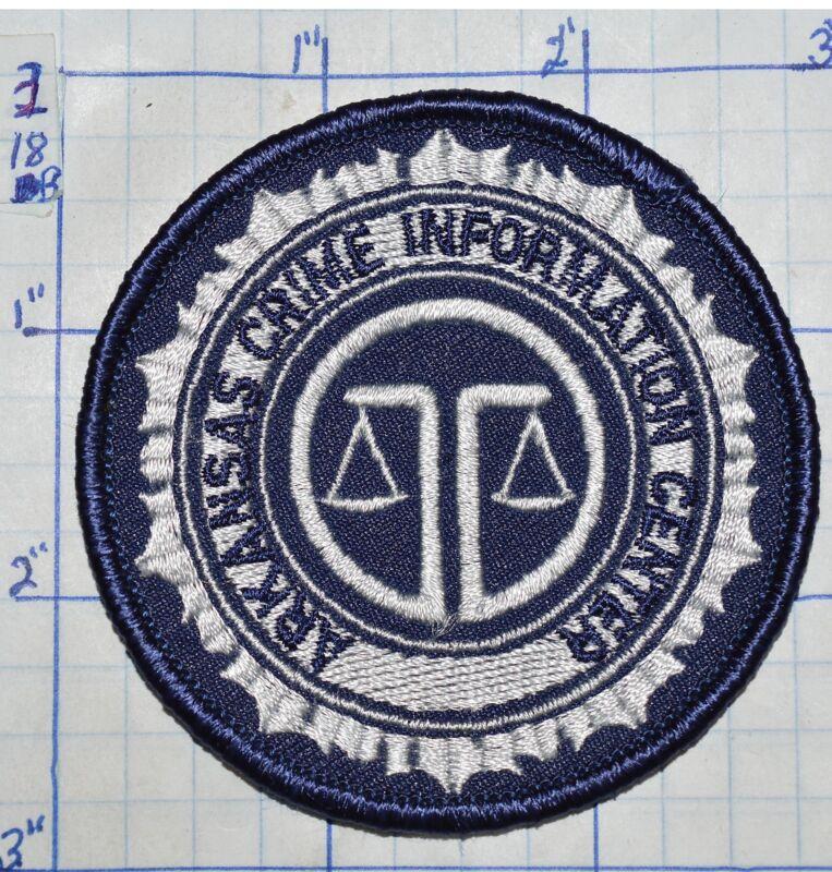"ARKANSAS CRIME INFORMATION CENTER 3"" ROUND PATCH"