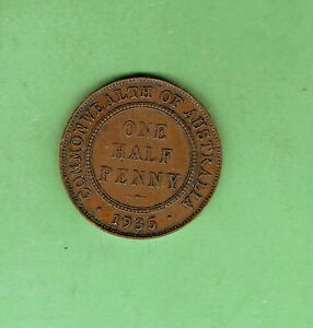 TEN-1935-AUSTRALIAN-CIRCLE-DESIGN-HALFPENNY-COINS