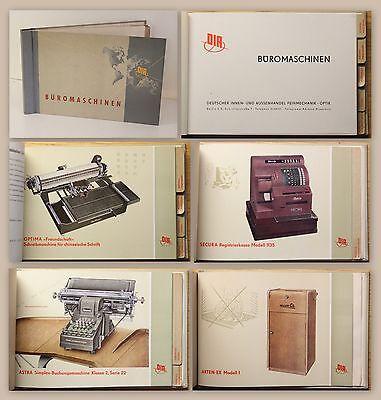 DIA Deutscher Innen- und Aussenhandel Katalog Büromaschinen Bürotechnik 1953 xz