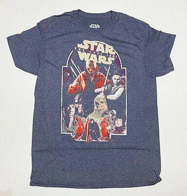 Star Wars - The Last Jedi - Men's 3X-Large Navy Blue Heather T-Shirt   3XL (Star Wars Tshirts)