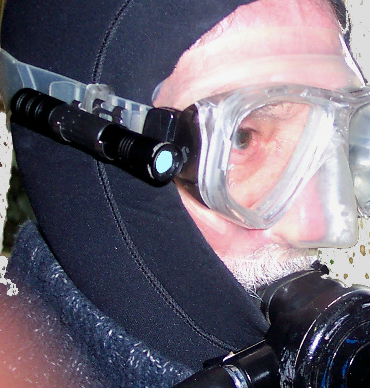 SUB TORCIA LUCE PER immersione maschera 160 Lumen di alluminio lampada BEAVER