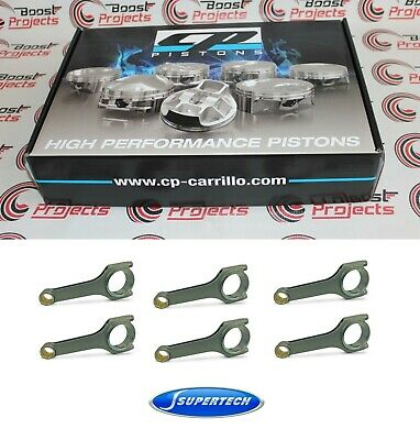 Cp Pistons - 10.5 Cr - 87mm Bore & SuperTech Connecting Rods Set for BMW S54B32