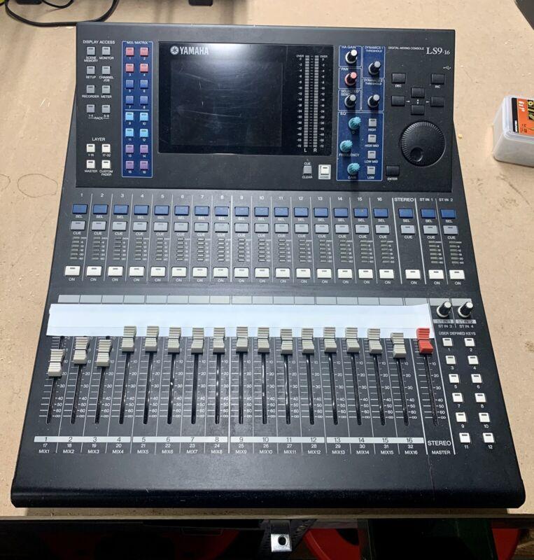 Yamaha LS9-16 Mixer Love this board!! (Read Description)