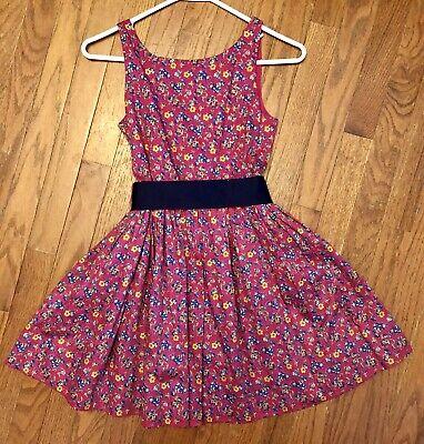 Girls Ralph Lauren Floral Pink Navy Sleeveless  Dress Size 12 Perfect 4 EASTER - Girls Easter Dresses Size 12