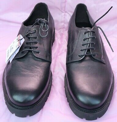 Zara Men's Black Leather shoes - Mens Size US 10 EUR 43 Lace Up Dress Shoes.