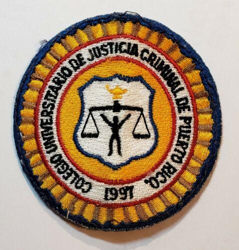 VINTAGE PUERTO RICO POLICE PATCH / COLEGIO DE JUSTICIA CRIMINAL #2