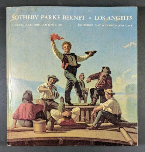 Sotheby Parke Bernet ~ Los Angeles Auction June 5-8 1978