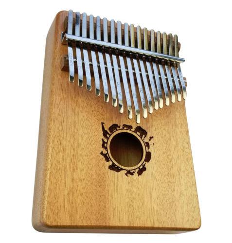 Kalimba Thumb Piano 17 Keys, Mahogany African Style Mbira, Portable Finger Piano