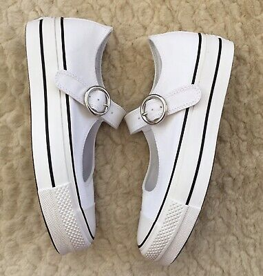 Converse Chuck Taylor All Star Mary Jane Trainers Shoes White UK6 BNIB RRP £55
