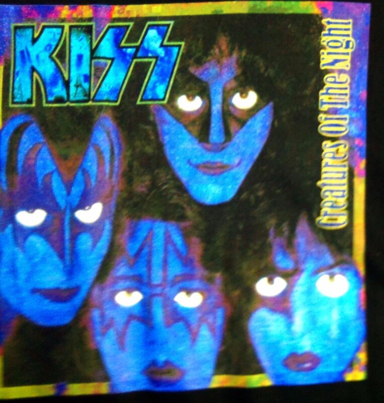 Kiss: Creatures of the Night / 2 Sided (L) Black Photo Print T-Shirt