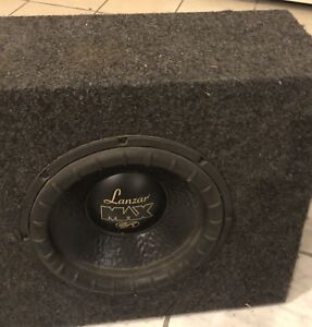 """12"""" Car sub woofer with box with Capacitor"""