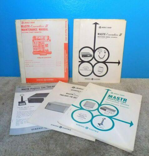 GE General Electric Mastr Executive II Transmitter Maintenance Manuals