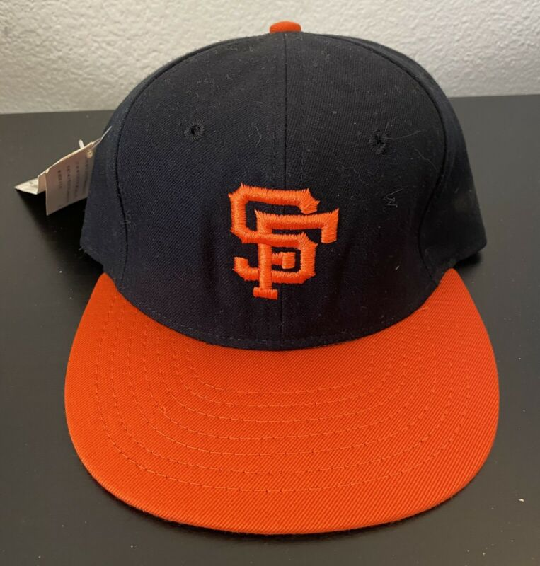 New 1977-82 SAN FRANCISCO GIANTS 100% Wool THROWBACK Baseball Cap Fitted Size 7