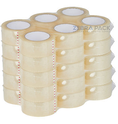 36 Rolls Carton Sealing Clear Packingshippingbox Tape- 2 Mil- 2 X 110 Yards