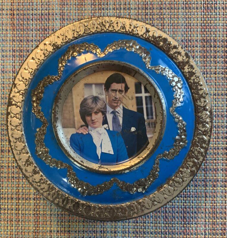 RARE Vintage 1981 Princess Diana Prince Charles Metal Meltis Bedford England Tin