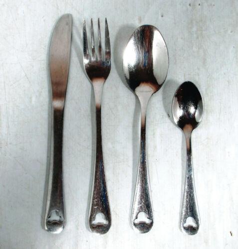 Disney Parks S/Steel Stainless Flatware Mickey Head Fork Lg & Sm Spoons Knife