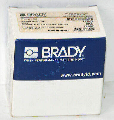 Brady Tls-2200 Thermal Printer Adhesive Label Ptl-17-483 1.0 W X .50 H